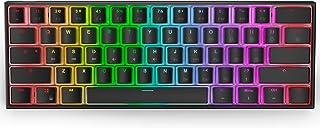 Ractous RTK61 61キー ミニ ウルトラコンパクト 60%メカニカル ゲーム キーボード ホットスワップ可能 有線 RGB バックライト PBT プディング キーキャップ 小型 ポータブル ゲーム オフィス コンピューター キーボー...