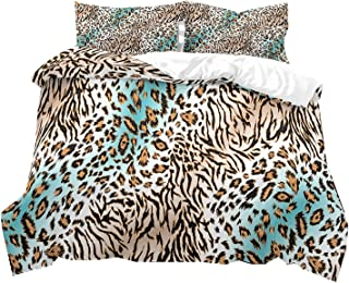 Leopard Housse De Couette Simple Double Super King Size Luxe Literie seersucker