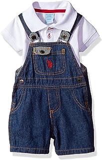 U.S. Polo Assn. Baby Boys' 2 Piece Polo Shirt and...