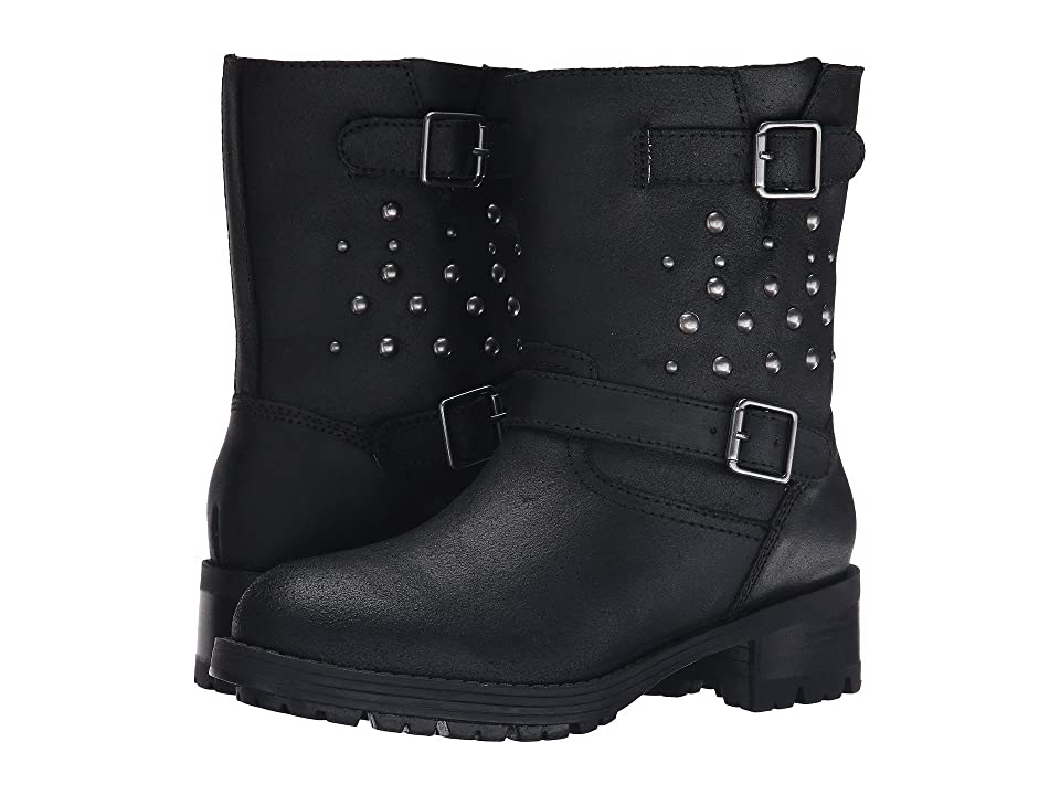 Polo Ralph Lauren Kids Biker Boot (Little Kid) (Black Leather) Boys Shoes
