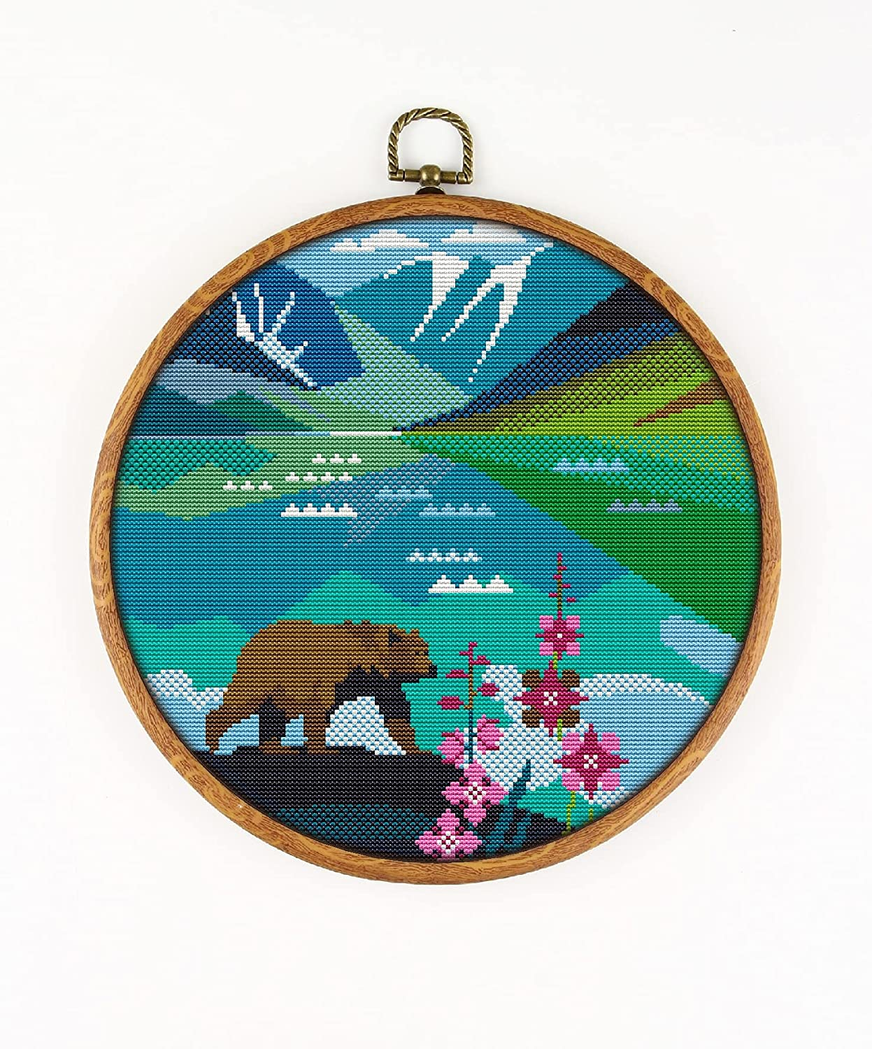 Lake Clark National Park K1147 KIT#3. Stitch Threa Cross Counted Branded goods Selling