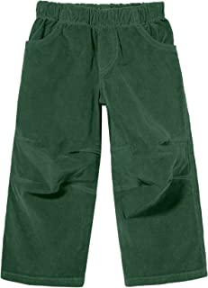 Boys' Stretchy Corduroy Pull Up Pants for Active Kids School Play