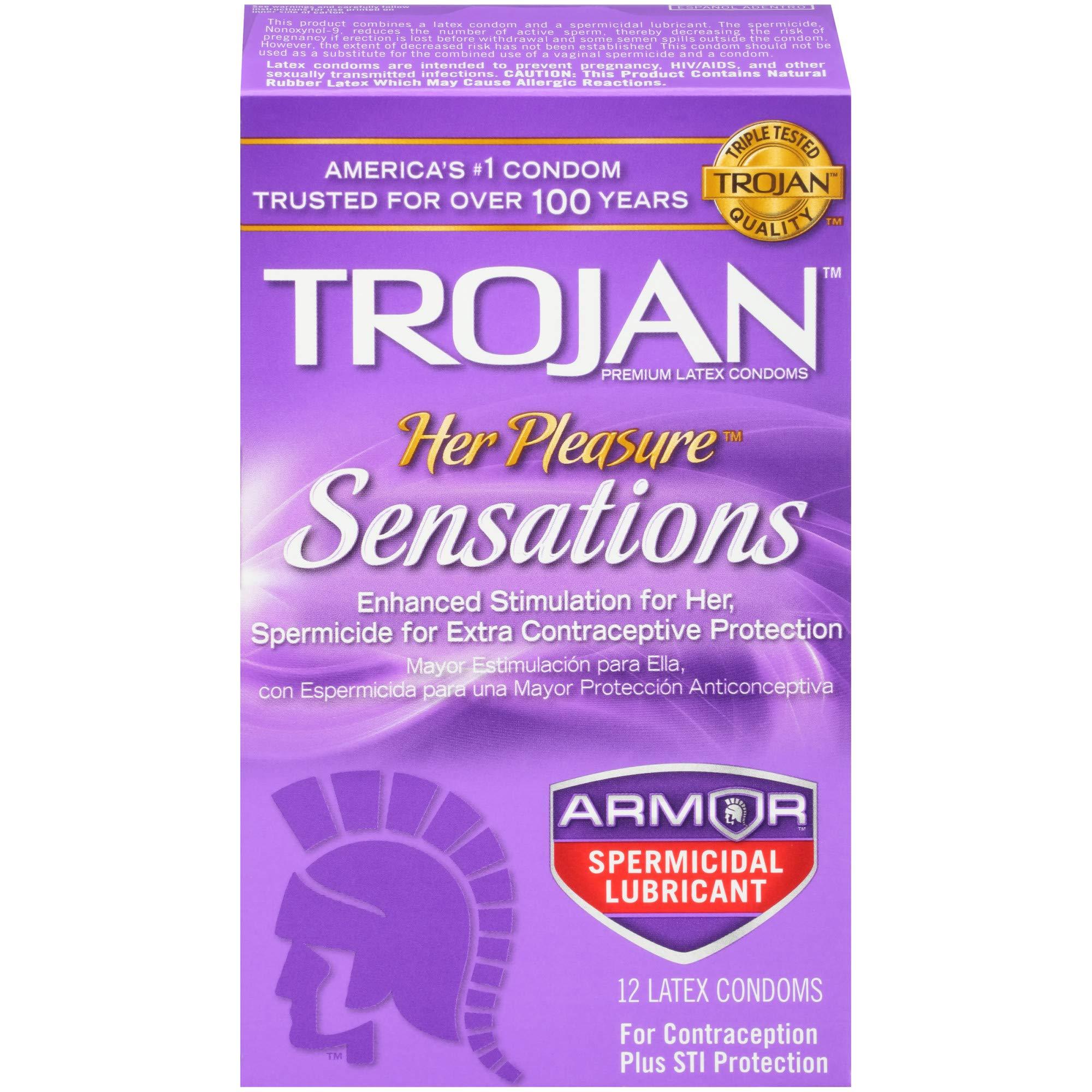 Trojan Pleasure Sensations Spermicidal Condoms