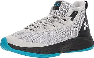 Men's Jet Mid Basketball Shoe, Black/Steel/White, Medium
