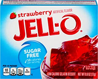 Jell-O Gelatin Mix, Strawberry Sugar Free, 0.6 oz