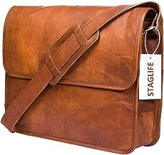 men's vegan leather messenger bag