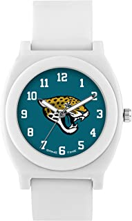Game Time Women's 'Fan' Quartz Plastic and Rubber Casual Watch, Color:White (Model: NFL-FNW-JAC)