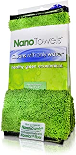 Life Miracle Nano Towels - Amazing Eco Fabric That Cleans Virtually Any Surface with Only Water. No More Paper Towels Or Toxic Chemicals. (8x8, Green)