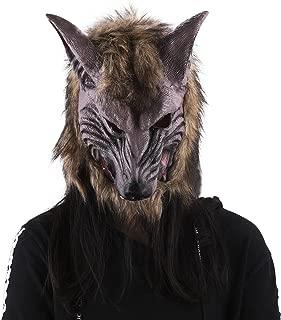 Wolf Halloween Mask Animal Werewolf Masquerade Haunted Prop Head Mask Cosplay