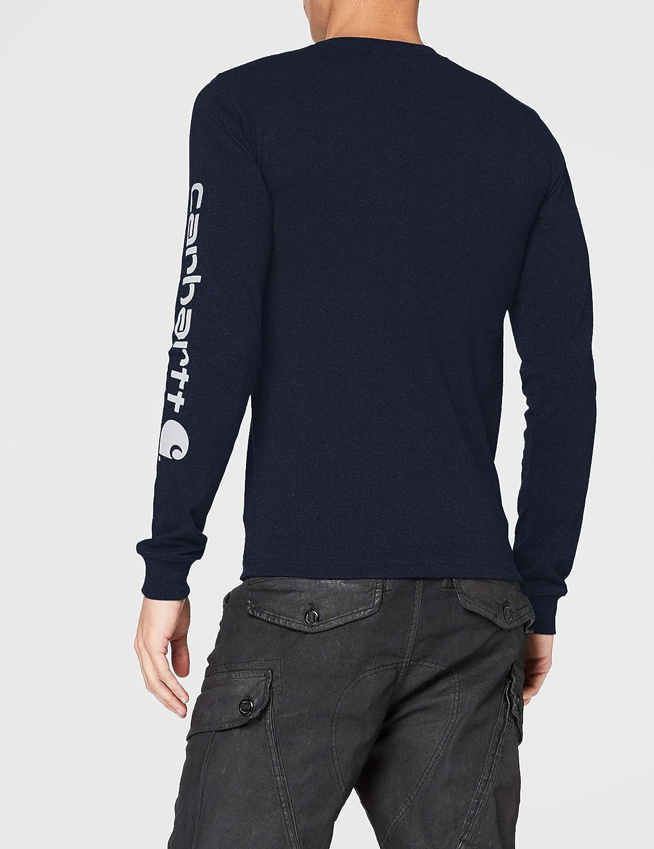Carhartt Signature Logo Long-Sleeve T-Shirt Uomo
