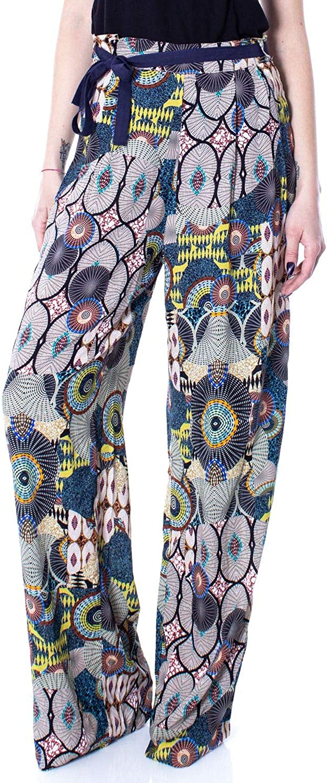 Desigual Women's 19SWPW11MULTI Multicolor Viscose Pants