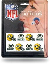 Rico Industries NFL Green Bay Packers Face Tattoos, 8-Piece Set