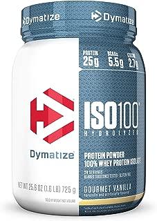 Dymatize ISO 100 Whey Protein Powder Isolate, Gourmet Vanilla, 1.6 Pound