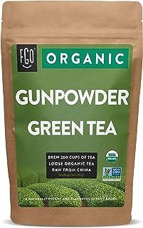 Organic Gunpowder Green Loose Leaf Tea   Brew 200 Cups   16oz/453g Resealable Kraft Bag   by FGO