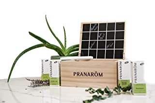 Pranarôm - Coffret Aromathérapie - 4 Huiles Essentielles Bio - Ravintsara - Tea-Tree - Lavande Vraie - Menthe Poivrée - Ar...