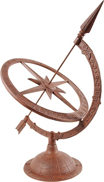 Esschert Design Large Cast Iron Sundial TH36
