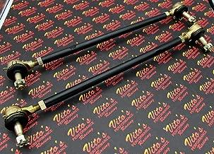 2 X New Vito's Yamaha Banshee Black Tie Rods/Ball Joints Stock Length Kit