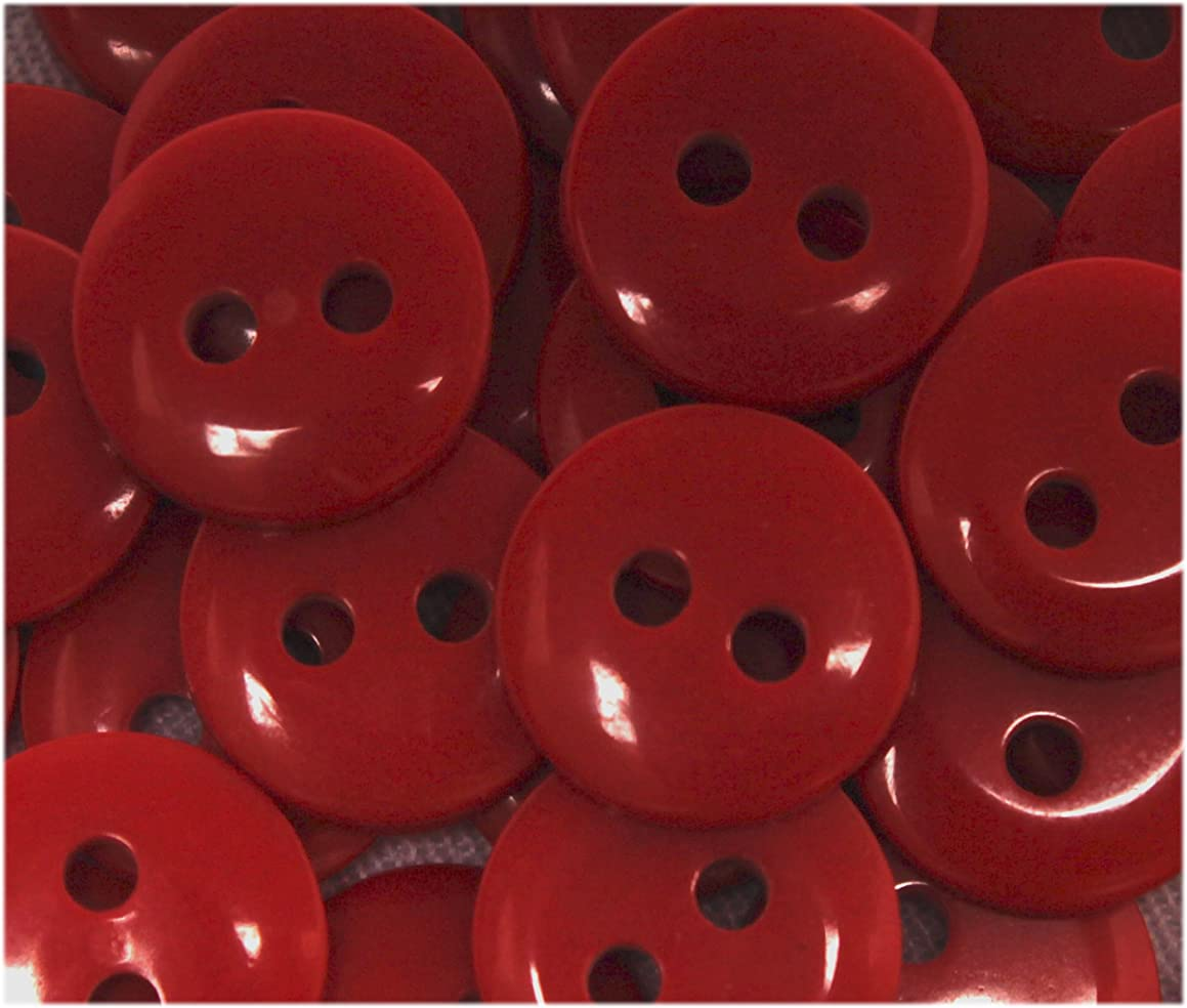 NDC True Red Sewing Craft Buttons 100 Pack
