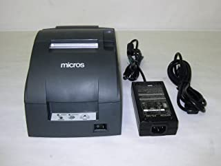 TM-U220B, Impact, two-color printing, 6 lps, Serial interface, Auto-cutter & power supply, Dark gray