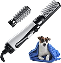 mothermed Dog Hair Dryer with Slicker Brush 3 in 1 Portable Home Pet Hair Style Grooming Blower with Heater Adjustable Speed and Temperature Air Force Dryer for Small Medium Dogs Cats