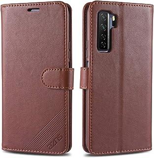 携帯電話保護ケース for Huawei Nova 7 SE AZNSシープスキンテクスチャーホリゾンタルフリップレザーケース、ホルダー&カードスロット&ウォレット付き 携帯電話シェル