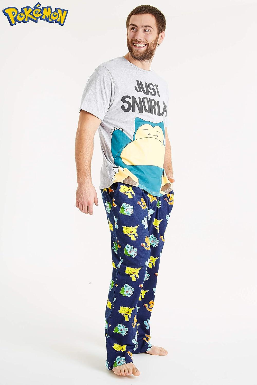 Pokèmon Pijama Hombre, Pijamas Hombre Snorlax con Camiseta Manga Corta y Pantalon Largo en Algodon, Juego de Ropa Hombre Divertido, Regalos para ...