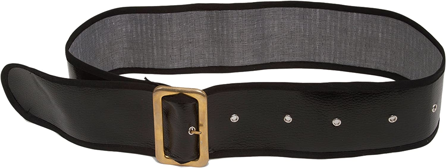 Jacobson Hat Company Men's Shiny Belt with Gold Buckle