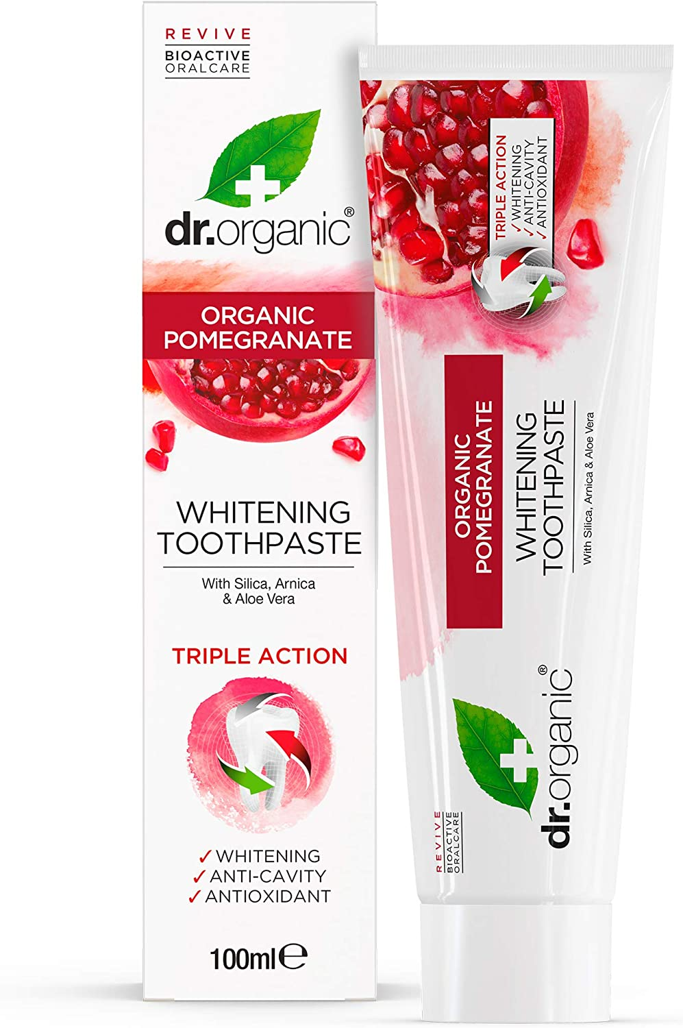 Dr Large-scale sale Organic Pomegrante 100ml quality assurance Toothpaste