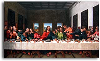 Niwo ART (TM - The Last Supper, by Leonardo Davinci, Oil Painting Reproduction - Giclee Wall Art for Home Decor, Gallery W...