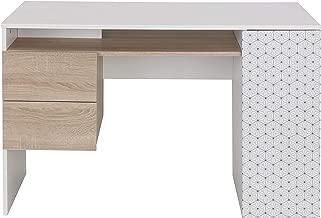 Diagone Erika Desk, Brown/White, 75 H x 120 W x 55 D cm, 1E05004