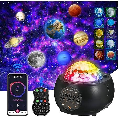 [Mise à jour 2021] Projecteur de ciel étoilé à LED, projecteur de planète, 3 en 1 Ocean Wave Sky Light Projecteur, lumière de nuit, 32 modes de couleur et de lumière pour enfants adultes et enfants