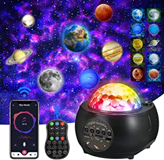 Planet Projector,Galaxy Projector,Sky Light for Bedroom Ceiling, Starry Night Projector, Built-in Bluetooth Speaker, 32 Co...