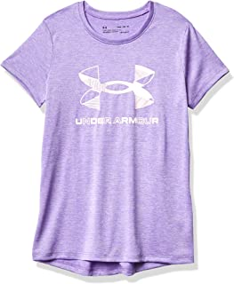 Under Armour Girls' Graphic Twist Big Logo Short-Sleeve T-Shirt