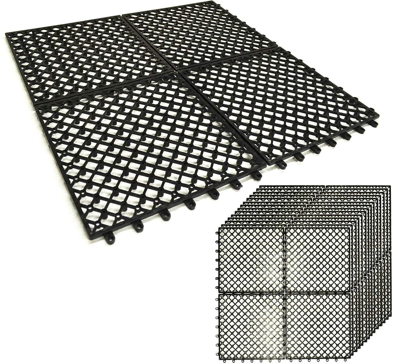 あるみがきますロバガーデンガーデン 1m幅にぴったり敷ける 人工芝用水はけ床マット 50cm×50cm 20枚セット (5m分)ジョイント式 FME-BASE0505-20P