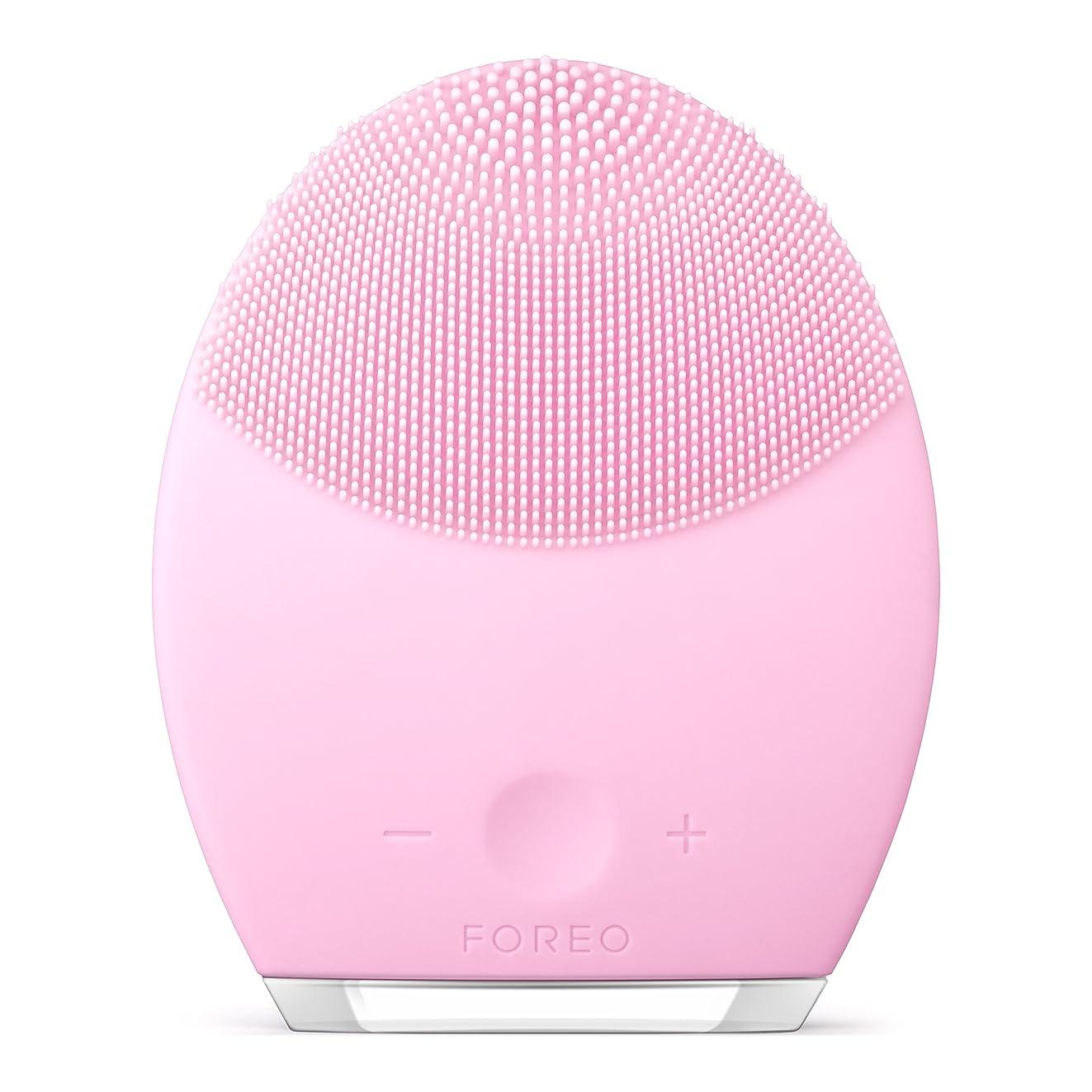 肥沃な給料キャンプFOREO LUNA 2 for ノーマルスキン 電動洗顔ブラシ シリコーン製 音波振動