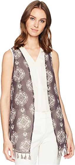 Printed Non-Crinkle Chiffon Vest