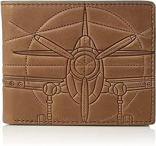 Fossil Men's Tate Leather RFID Blocking Bifold Flip ID Wallet