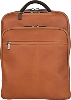 Back-Stage Access Slim Colombian Leather TSA Checkpoint-Friendly 16 Laptop & Tablet Travel Business Backpack, Cognac