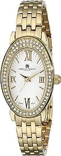 Charles-Hubert, Paris Women's 6905-GM Premium Collection Analog Display Japanese Quartz Gold Watch
