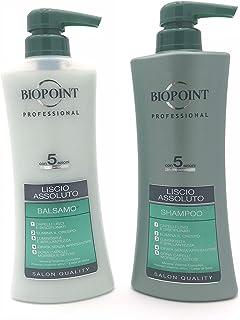 BIOPOINT KIT CAPELLI LISCIO ASSOLUTO SHAMPOO 400ML + BALSAMO 400ML   LINEA PROFESSIONAL SALON QUALITY