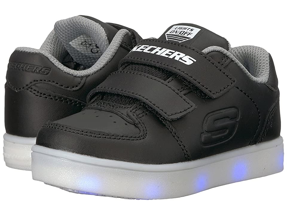 SKECHERS KIDS Energy Lights-Gusto Glow 90631N (Toddler) (Black) Boy