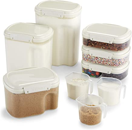 Sistema Bake It Food Storage for Baking Ingredients, Multi Piece Containers, Set of 9
