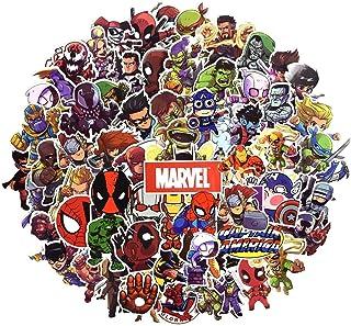 comprar comparacion Juego de 100 Pegatinas de Superhéroes Marvel Vinilos para niños,Pegatinas de Coche para Snowboard, Laptop,teléfono Mac, Eq...