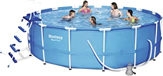 Bestway, Steel Pro Frame Pool Set(Contents: Pool, Filter Pump, Ladder, Ground Cloth, Cover)457X122Cm -26-56438