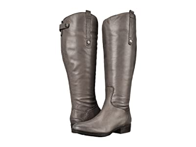 Sam Edelman Penny 2 Wide Calf Leather Riding Boot (Grey Frost) Women