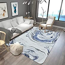 Marble Pattern Carpet, Large Non-Slip Soft Foot Pad, No Fiber Shedding, Fade Resistance, Used for Living Room, Coffee Tabl...