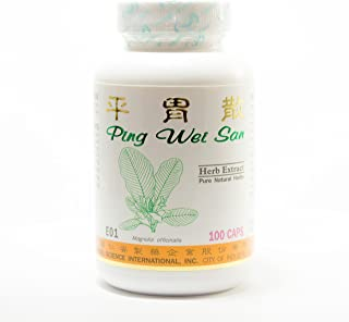 Stomach Comfort Dietary Supplement 500mg 100 capsules (Ping Wei San) E01 100% Natural Herbs