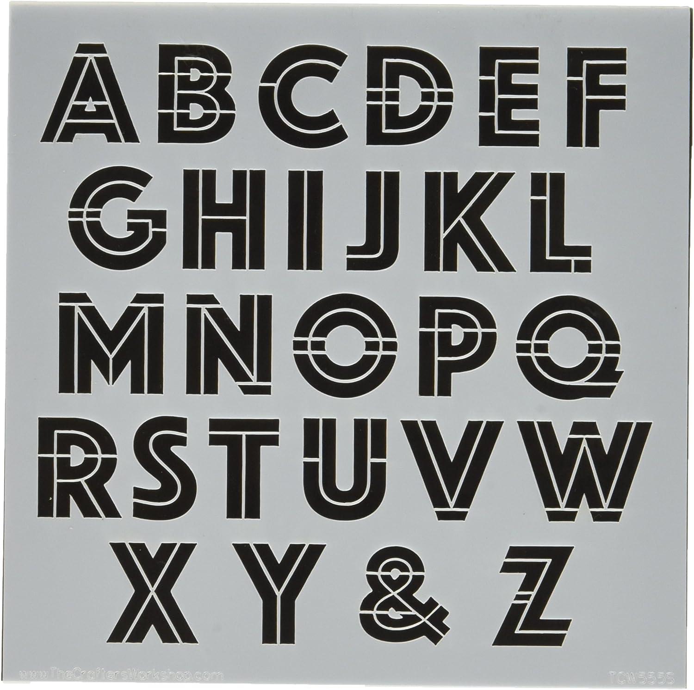 Crafters Workshop Kunststoff Vorlage 6 x 6 Art Deco Alphabet B014EYMFXC | Angemessener Preis