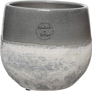 Decoris DVA4035172 Vase, Terre Cuite, Gris, 47cm X 31,5cm