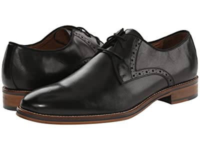 Johnston & Murphy Conard Casual Dress Plain Toe Oxford (Black Calfskin) Men